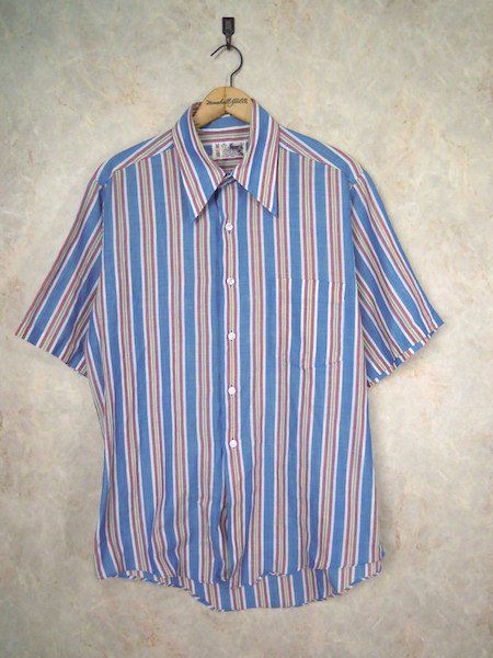 1970's Penneys TOWNCRAFT S/S オープンカラーシャツ