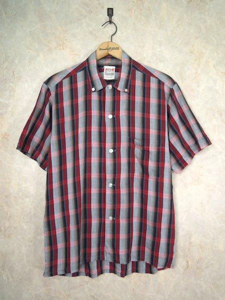 1960's CAMPUS S/Sシャドーチェックシャツ