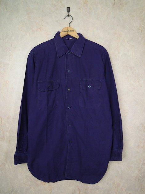ユーロ パープルネイビー オーバーサイズワークシャツ