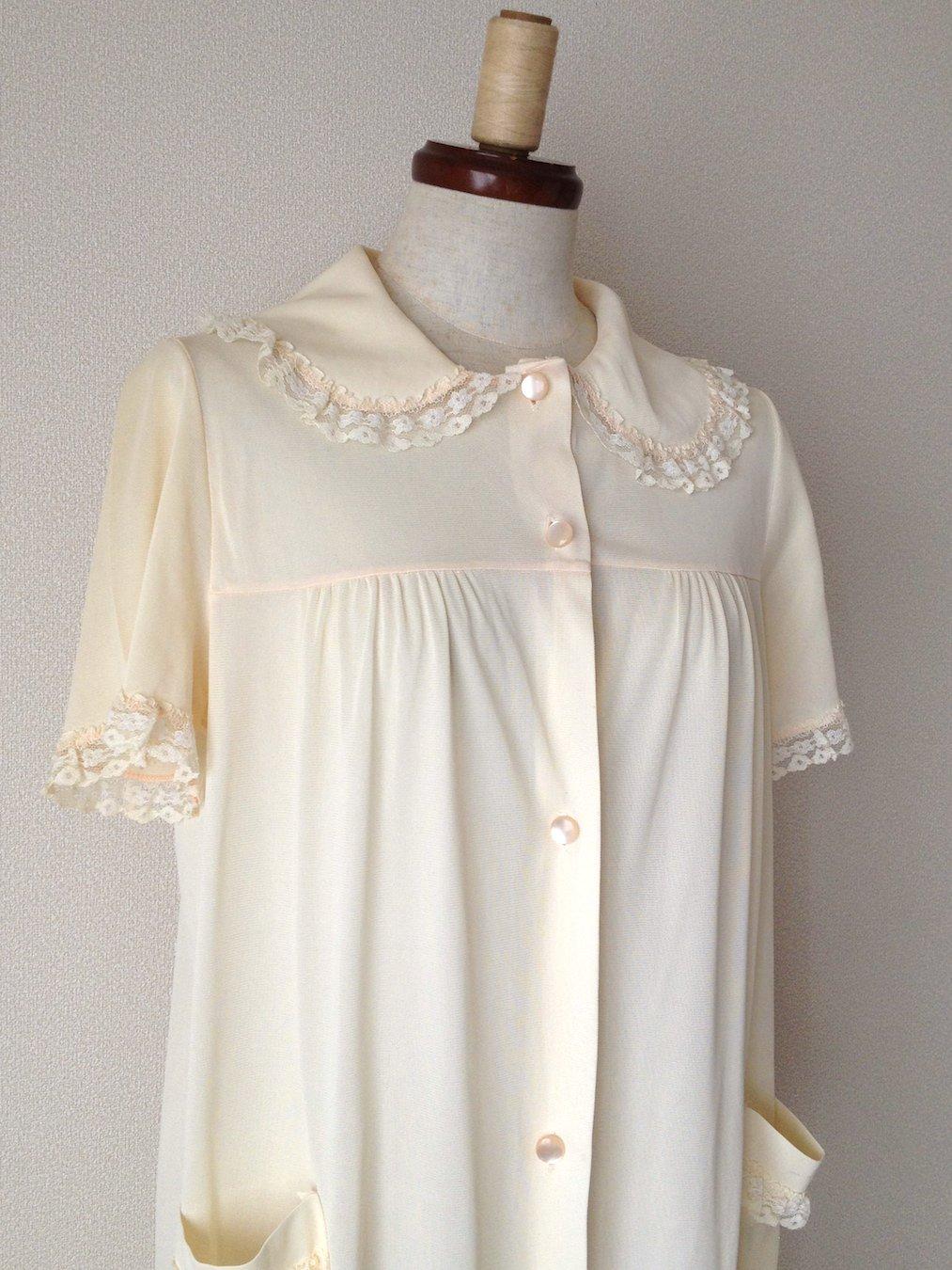 """1960's ヴィンテージレースナイトドレス """"アイボリー"""""""
