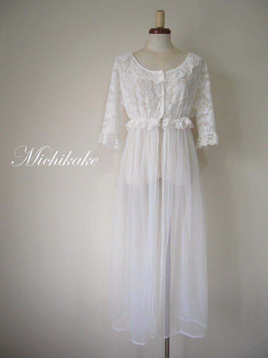 """ヴィンテージベビードール/ナイトドレス """"白"""""""