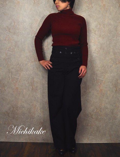 1970'sヴィンテージリブタートルネックセーター