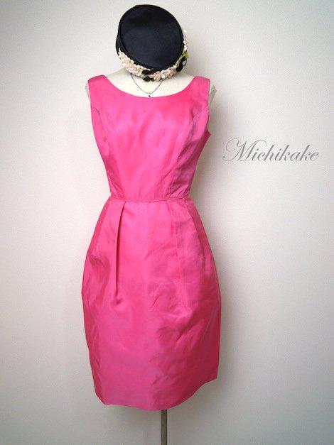 1960's ヴィンテージ ノースリーブワンピースドレス