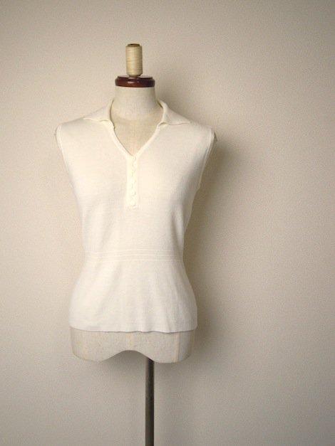 1970's 衿付きVネック ヴィンテージ ニット ベスト