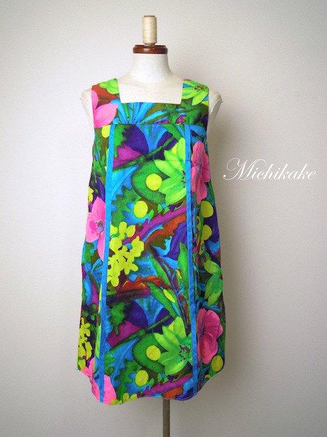 1960's-1970's ボタニカル柄 トロピカル ハワイアンヴィンテージワンピース ドレス