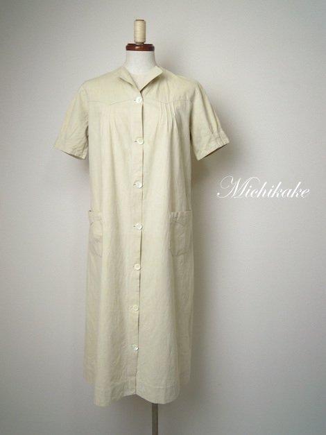 ヴィンテージ 半袖 ワークワンピースドレス
