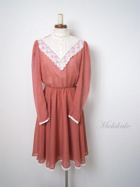 1970's ヴィンテージ 小花柄 プレーリー ワンピースドレス