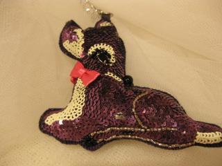 イパニマ   バッグチャーム   紫色のバンビ