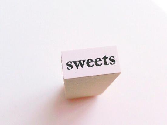 文字スタンプ【Sweets】