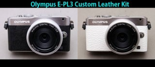 Olympus E-PL3 用貼り革キット