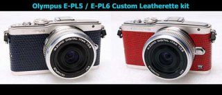 Olympus E-PL5 / E-PL6 用貼り革キット