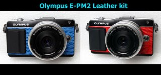 Olympus E-PM2 用貼り革キット