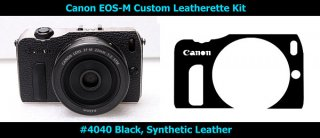 Canon EOS-M 用貼り革キット(4040(黒)のみ)
