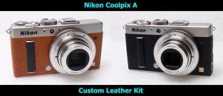 Nikon CoolPix A用貼り革キット