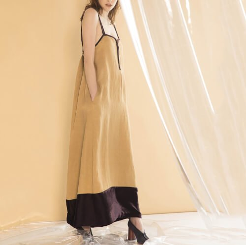 styling/  kei shirahata Velvet switching dress