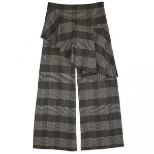 AULA RUFFLE CHECK PANTS