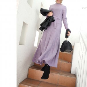 AULA AILA KNIT PLEATS DRESS /先行予約