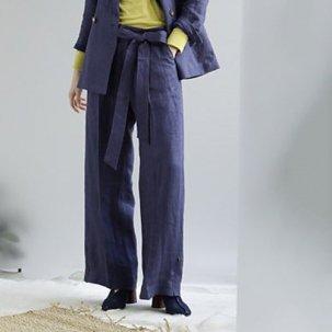 styling/  kei shirahata ベルテッドリネンパンツ
