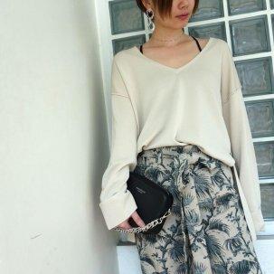 styling/ kei shirahata ミラノリブニットプルオーバー