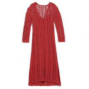styling/ kei shirahata 鈎針編みニットドレス