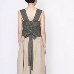 thomas magpie トーマスマグパイ linen bustier