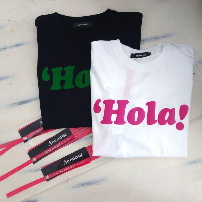 Account Tシャツ Hola