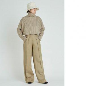 styling/ kei shirahata バックショートニットプルオーバー