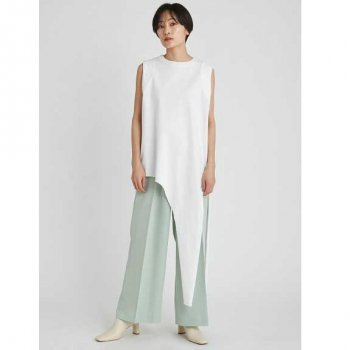 styling/ kei shirahata サイドスリットノースリーブトップス