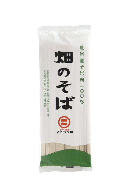 【お得】魚沼産そば粉使用「畑のそば乾麺」(180g) 6ヶ入り