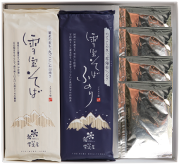 雪室貯蔵 国産そば粉使用「雪室屋乾麺8人前つゆ付セット」