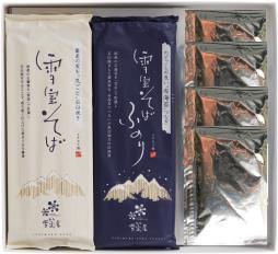 雪室貯蔵 国産そば粉使用「雪室屋乾麺4人前つゆ付セット」