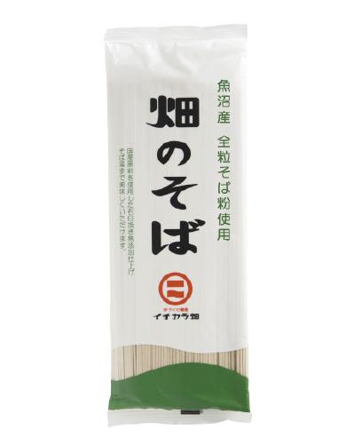【お得】魚沼産そば粉使用「畑のそば乾麺」(180g)1ケース12ヶ入り