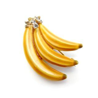 HAR(ハー)☆バナナのヴィンテージブローチ【エナメル x ラインストーン】