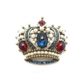 《国際送料無料》WEISS(ワイス)☆シックな王冠のヴィンテージ・ブローチ /ペンダント