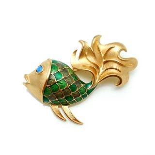 TRIFARI(トリファリ)☆和柄のウロコ 鯉のヴィンテージ・ブローチ