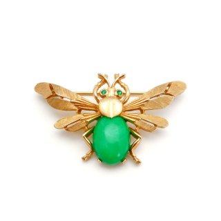 TRIFARI(トリファリ)☆グリーンアップル・ジェリーベリー 蜂 ハチのヴィンテージ・ブローチ