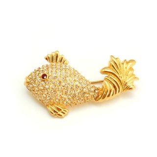 NAPIER(ネイピア)☆ラインストーン お魚のヴィンテージ・ブローチ