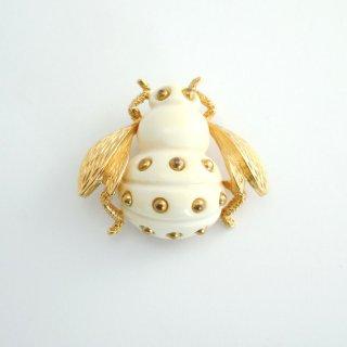 TRIFARI(トリファリ)☆アイボリー蜂 ミツバチのヴィンテージ・ブローチ