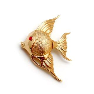 TRIFARI(トリファリ)☆ゴールド エンジェルフィッシュ お魚のヴィンテージ・ブローチ