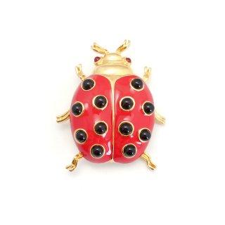 TRIFARI(トリファリ)☆赤いテントウ虫のヴィンテージ・ブローチ