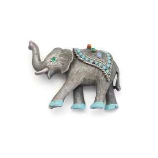 JJ(ジェイジェイ)☆エキゾチックな象のヴィンテージ・ブローチ