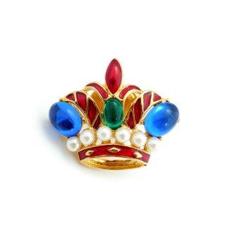 TRIFARI(トリファリ)☆ロイヤルクラウン 小さな王冠のヴィンテージ・タックピン【デッドストック/カード付】