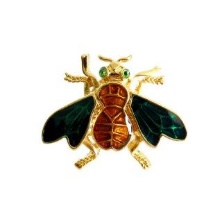 TRIFARI(トリファリ)☆エナメル 小さな蜂のヴィンテージ・タックピン
