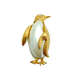 TRIFARI(トリファリ)☆パールのジェリーベリー ペンギンのヴィンテージ・ブローチ