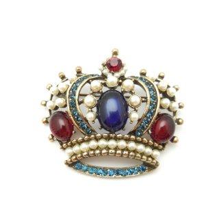 WEISS(ワイス)☆キングクラウン シックな王冠のヴィンテージ・ブローチ /ペンダント