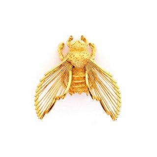 MONET(モネ)☆オープンワーク ミツバチ ゴールド蜂のビンテージ・ブローチ