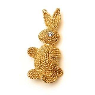 NAPIER(ネイピア)☆ウサギのブローチ ロープバニー