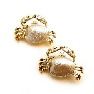 ヴィンテージ Gerry's(ゲーリーズ)☆カニのブローチ 貝のお腹ジェリーベリー【2個セット】