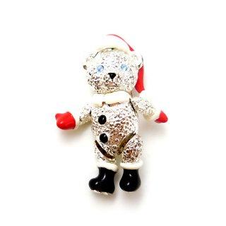 NAPIER(ネイピア)☆クリスマス・サンタのテディベア 動くくまのブローチ