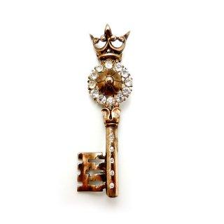TRIFARI(トリファリ)☆スターリングシルバー王冠の鍵のアンティークブローチ